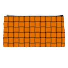 Orange Weave Pencil Case