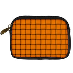 Orange Weave Digital Camera Leather Case