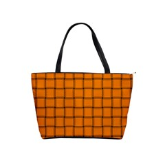 Orange Weave Large Shoulder Bag