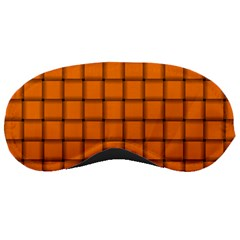Orange Weave Sleeping Mask