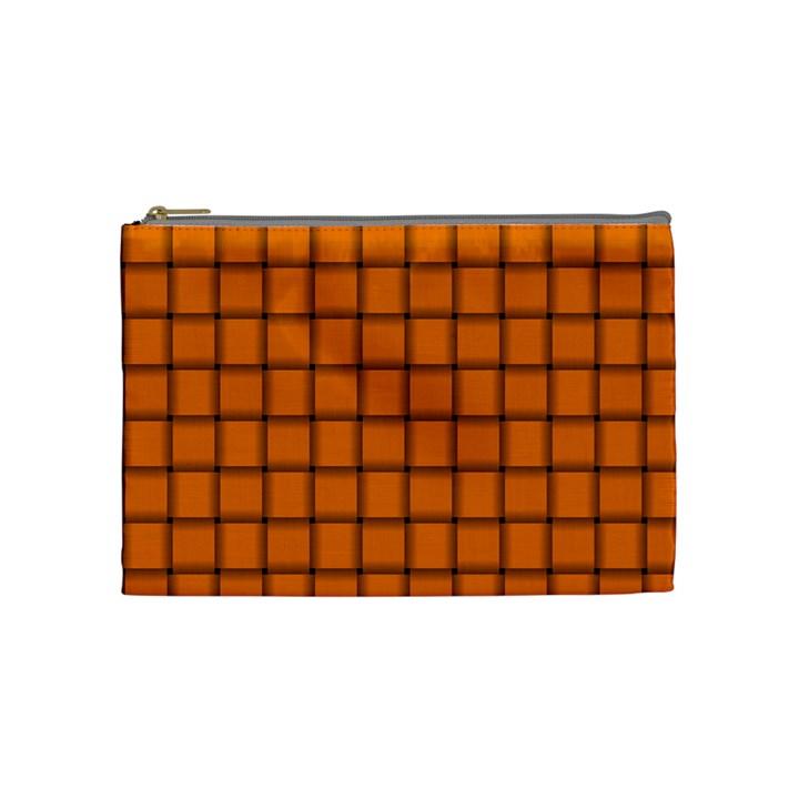 Orange Weave Cosmetic Bag (Medium)