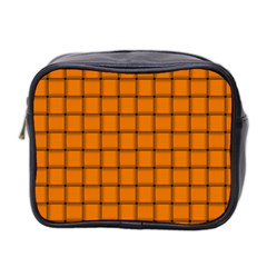 Orange Weave Mini Travel Toiletry Bag (Two Sides)