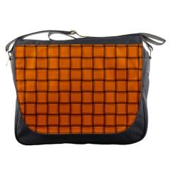 Orange Weave Messenger Bag
