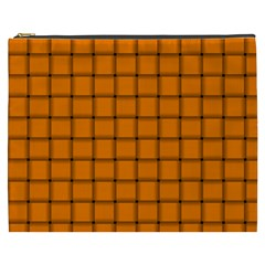 Orange Weave Cosmetic Bag (XXXL)