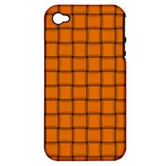 Orange Weave Apple iPhone 4/4S Hardshell Case (PC+Silicone)