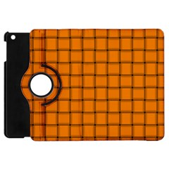 Orange Weave Apple Ipad Mini Flip 360 Case