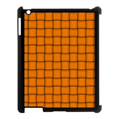 Orange Weave Apple iPad 3/4 Case (Black)