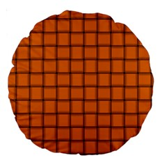 Orange Weave 18  Premium Round Cushion