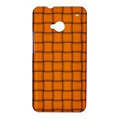 Orange Weave HTC One M7 Hardshell Case