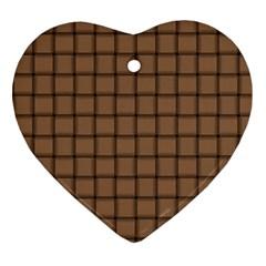 Cafe Au Lait Weave Heart Ornament