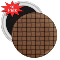 Cafe Au Lait Weave 3  Button Magnet (10 pack)