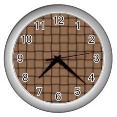Cafe Au Lait Weave Wall Clock (Silver)