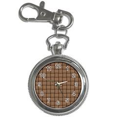 Cafe Au Lait Weave Key Chain & Watch
