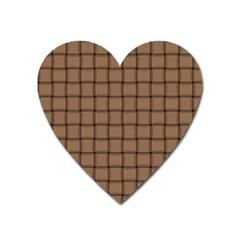Cafe Au Lait Weave Magnet (heart)