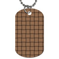 Cafe Au Lait Weave Dog Tag (Two Sided)