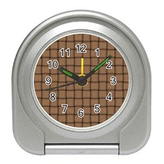 Cafe Au Lait Weave Desk Alarm Clock