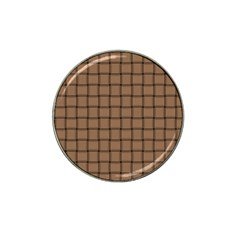 Cafe Au Lait Weave Golf Ball Marker 4 Pack (for Hat Clip)