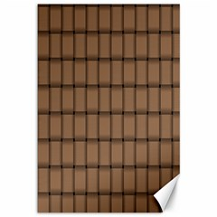 Cafe Au Lait Weave Canvas 12  x 18  (Unframed)