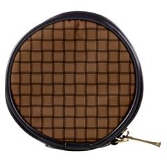Cafe Au Lait Weave Mini Makeup Case