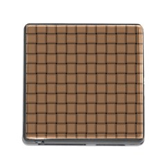 Cafe Au Lait Weave Memory Card Reader With Storage (square)