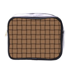 Cafe Au Lait Weave Mini Travel Toiletry Bag (One Side)