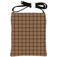 Cafe Au Lait Weave Shoulder Sling Bag
