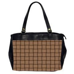 Cafe Au Lait Weave Oversize Office Handbag (Two Sides)