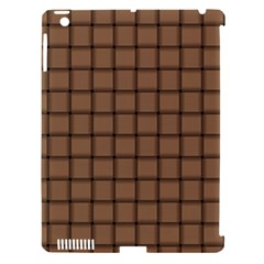 Cafe Au Lait Weave Apple iPad 3/4 Hardshell Case (Compatible with Smart Cover)