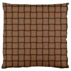 Cafe Au Lait Weave Large Cushion Case (one Side)