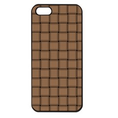 Cafe Au Lait Weave Apple iPhone 5 Seamless Case (Black)