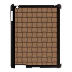 Cafe Au Lait Weave Apple iPad 3/4 Case (Black)