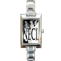 Logo Rectangular Italian Charm Watch