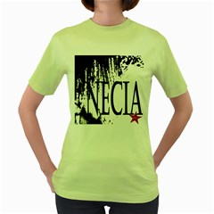 Logo Womens  T-shirt (Green)