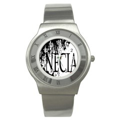 Logo Stainless Steel Watch (Unisex)