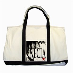 Logo Two Toned Tote Bag