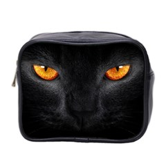 black_cat_5-wallpaper-2560x1600 Mini Travel Toiletry Bag (Two Sides)