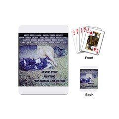 Animal Liberation Playing Cards (mini)