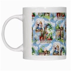Alice In Wonderland White Coffee Mug