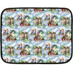 Alice In Wonderland Mini Fleece Blanket (Two-sided)