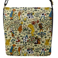 Alice In Wonderland Flap closure messenger bag (Small)