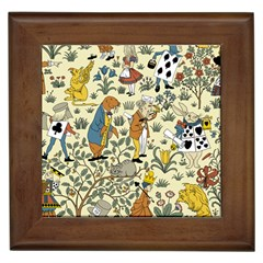 Alice In Wonderland Framed Ceramic Tile
