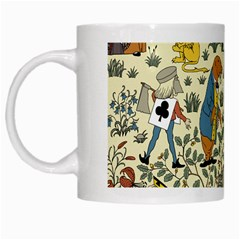 Alice In Wonderland White Coffee Mug