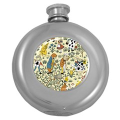 Alice In Wonderland Hip Flask (Round)