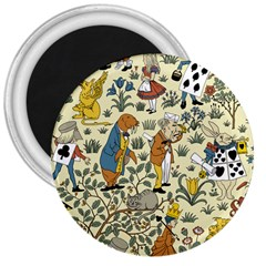 Alice In Wonderland 3  Button Magnet