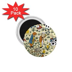 Alice In Wonderland 1.75  Button Magnet (10 pack)