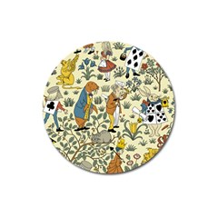 Alice In Wonderland Magnet 3  (Round)