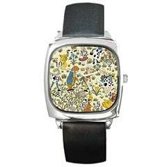 Alice In Wonderland Square Leather Watch