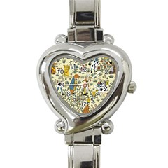 Alice In Wonderland Heart Italian Charm Watch