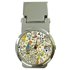 Alice In Wonderland Money Clip with Watch