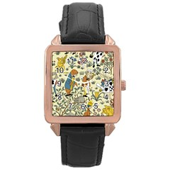 Alice In Wonderland Rose Gold Leather Watch